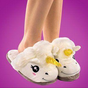 Think Geek Unicorn Slippers One Size New